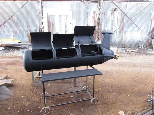 Кухня ручной работы. Ярмарка Мастеров - ручная работа. Купить Подводная лодка(на 3 отсека-коптильня+2 различных по размеру мангала). Handmade.