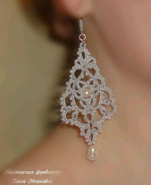 Openwork earrings with pearls 'Lyubava', Earrings, Novosibirsk,  Фото №1
