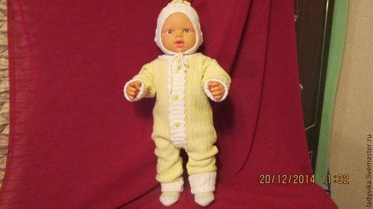 Одежда ручной работы. Ярмарка Мастеров - ручная работа. Купить Вязанный комплект для малыша. Handmade. Желтый, комплект для малыша, шерсть