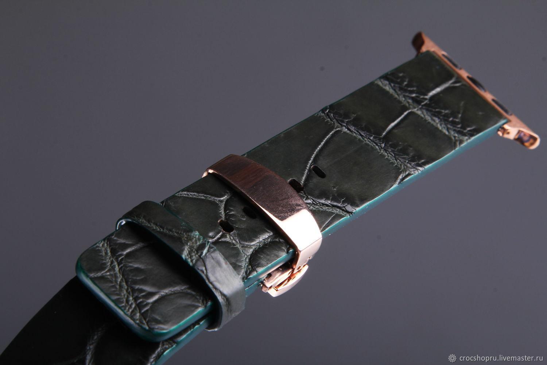 Crocodile leather watchband for Apple Watch IMA0470VGB1, Watch Straps, Moscow,  Фото №1