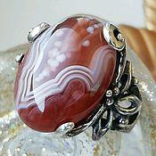 Украшения handmade. Livemaster - original item Ring with agate Botswana