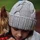 Шапки ручной работы. Ярмарка Мастеров - ручная работа. Купить Детская шапочка из мериноса Lana Grossa. Handmade. Однотонный