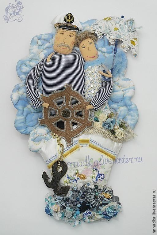 Коллекционные куклы ручной работы. Ярмарка Мастеров - ручная работа. Купить А когда на море качка!!!. Handmade. Голубой