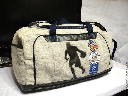 Спортивные сумки ручной работы. Ярмарка Мастеров - ручная работа. Купить Сумка спортивная Большая сумка через плечо Баскетбол Мужская сумка. Handmade.