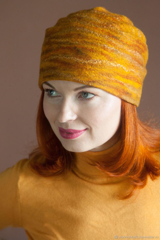 Women felted hat. Autumn, Caps, Khabarovsk,  Фото №1
