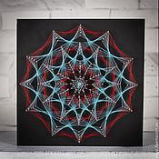 """Картины и панно ручной работы. Ярмарка Мастеров - ручная работа """"ледяной взрыв"""" в стиле стринг арт. Handmade."""