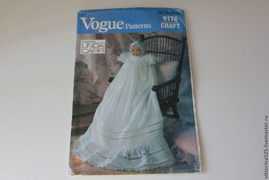 Куклы и игрушки ручной работы. Ярмарка Мастеров - ручная работа. Купить винтажная выкройка одежды для куклы-малыша. Handmade. Белый