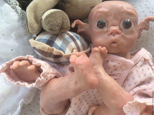 Куклы-младенцы и reborn ручной работы. Ярмарка Мастеров - ручная работа. Купить Эльфик из полимерной глины. Handmade.