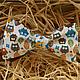 Галстуки, бабочки ручной работы. Ярмарка Мастеров - ручная работа. Купить Двусторонняя галстук-бабочка Совы. Самовяз. Handmade. Бабочка