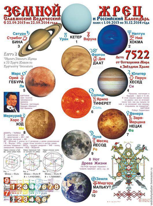 Обложка Календаря ЗЕМНОЙ ЖРЕЦ на Лето 7522