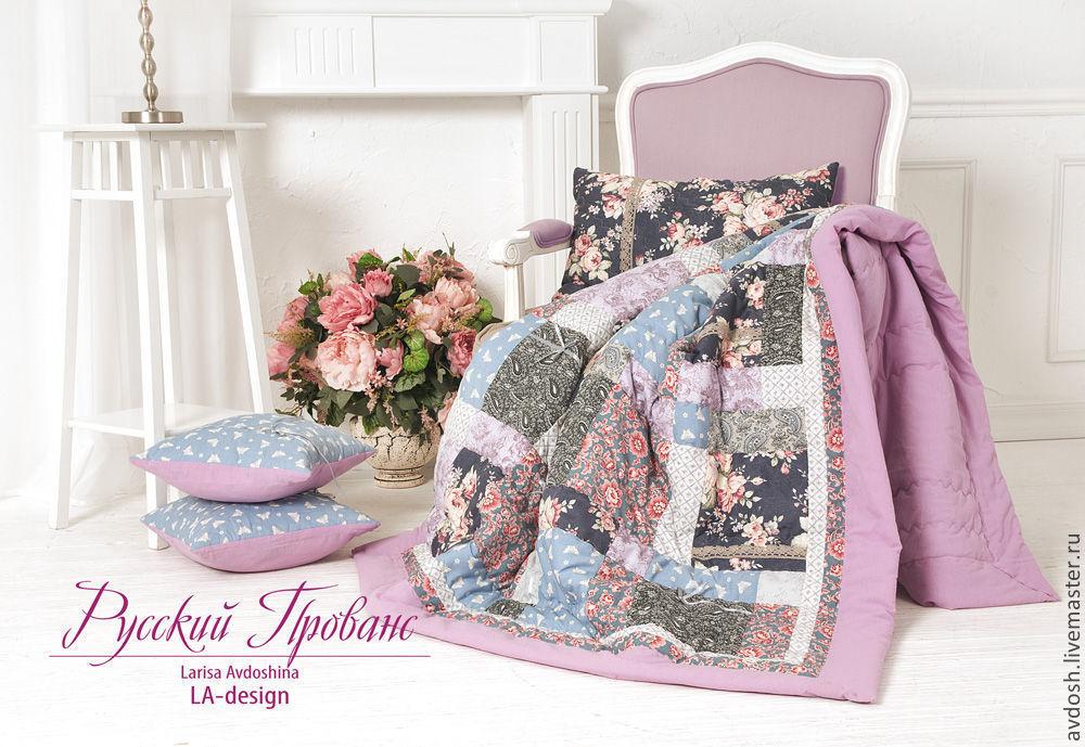 Лоскутное покрывало и подушки `Русский Прованс`. Текстиль для дома и дачи. Лариса Авдошина. LA-Design