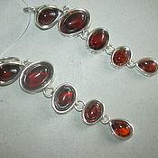Украшения handmade. Livemaster - original item Earrings AELITA AMBER925 silver.. Handmade.