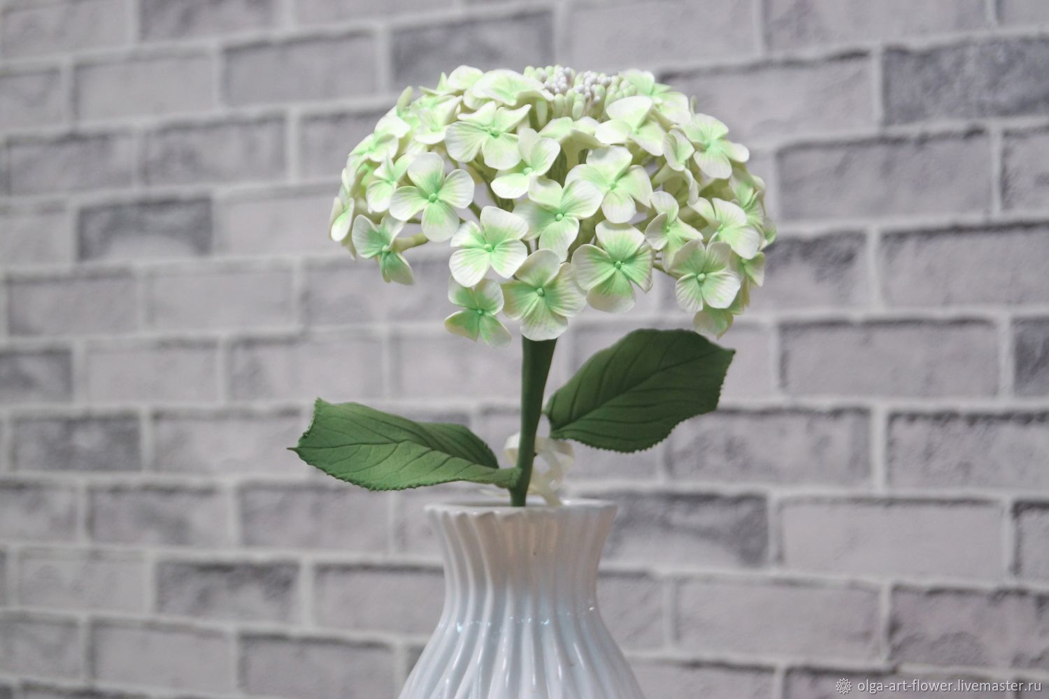 Branch hydrangea polymer clay, Composition, Moscow,  Фото №1