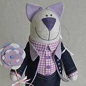 """Куклы и игрушки ручной работы. Ярмарка Мастеров - ручная работа Кот """"Джинсовый 2"""". Handmade."""