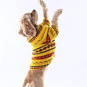 """Для домашних животных, ручной работы. Ярмарка Мастеров - ручная работа Свитер для собачки """"Осеннее настроение"""". Handmade."""