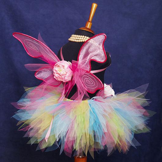 """Карнавальные костюмы ручной работы. Ярмарка Мастеров - ручная работа. Купить """"Летняя фея"""" карнавальный костюм юбка-пачка и крылья. Handmade."""