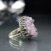 Украшения handmade. Livemaster - original item Ring of 925 silver with a raw amethyst. Handmade.