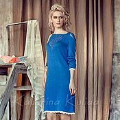 Одежда handmade. Livemaster - original item Bright blue dress. Handmade.