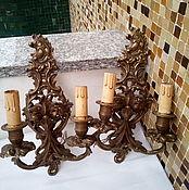 Винтаж ручной работы. Ярмарка Мастеров - ручная работа 2 бронзовых бра  винтаж, Италия. Handmade.