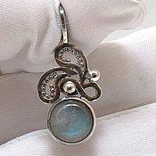 handmade. Livemaster - original item Silver pendant with labradorite Wave. Handmade.