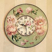Для дома и интерьера ручной работы. Ярмарка Мастеров - ручная работа Часы настенные Розовые пионы. Handmade.
