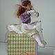Коллекционные куклы ручной работы. Клоунесса. Авторская кукла-часы.. Наталья Дегтярева (Natadeg). Ярмарка Мастеров. Часы интерьерные