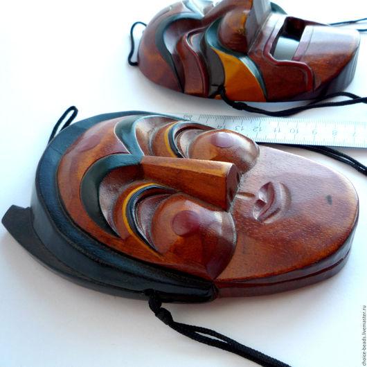 Настенные деревянные маски. Корейские маски Хахве. Интерьерные маски. Для дизайнеров. Для коллекционеров настенных масок. Винтаж. Магазин Винтажные вещицы. Ярмарка мастеров