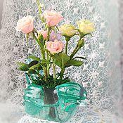 Цветы и флористика ручной работы. Ярмарка Мастеров - ручная работа Букетик цветов из полимерной глины Розы и колокольчики. Handmade.