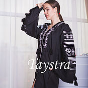 Одежда ручной работы. Ярмарка Мастеров - ручная работа Платье черное, вышитое, бохо, этно стиль, Bohemia. Handmade.