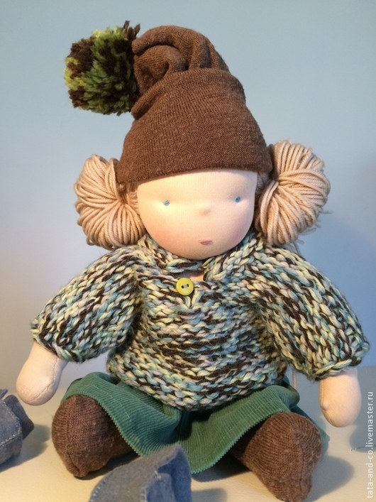 Вальдорфская игрушка ручной работы. Ярмарка Мастеров - ручная работа. Купить Полишка, вальдорфская кукла. Handmade. Разноцветный