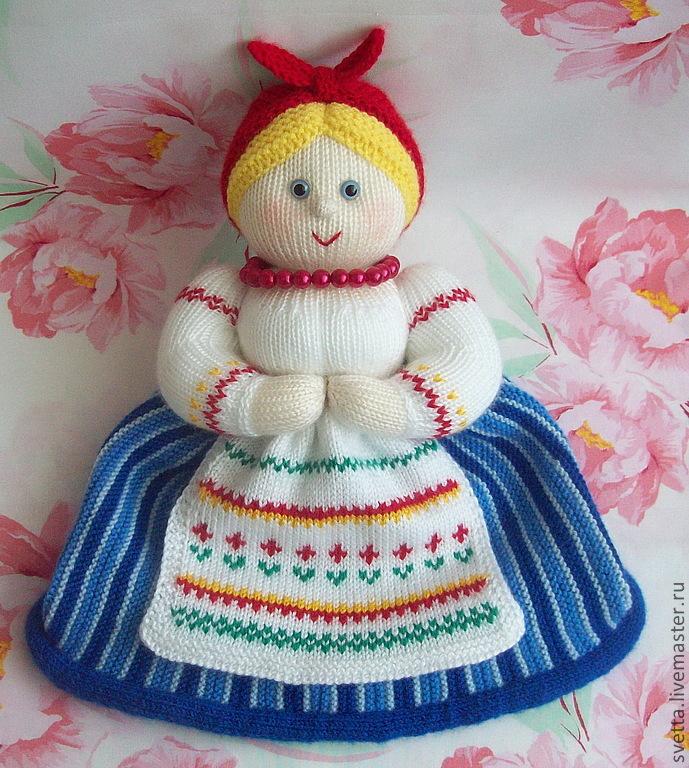 Вязаная кукла грелка на чайник своими руками 72
