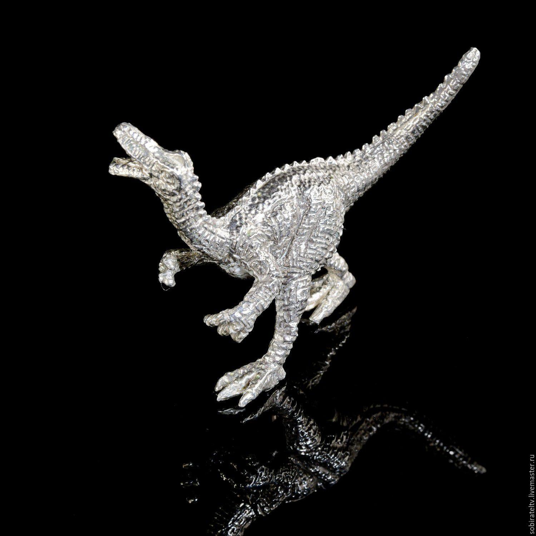 "Статуэтка ""Динозавр Тиранозавр"". Серебро, Статуэтки, Москва, Фото №1"