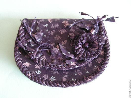Женские сумки ручной работы. Ярмарка Мастеров - ручная работа. Купить Клатч из кожи. Handmade. Комбинированный, женская сумка