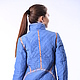 Верхняя одежда ручной работы. Куртка стеганая жемчужно-голубая - скидка 30%. Наталия Иванова. Ярмарка Мастеров. Куртка демисезонная