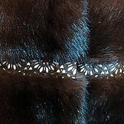 Одежда ручной работы. Ярмарка Мастеров - ручная работа Меховой жилет из норки « Кружева ». Handmade.