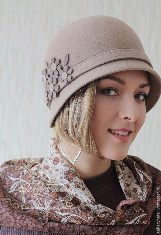 Шляпы ручной работы. Ярмарка Мастеров - ручная работа. Купить Шляпка в стиле ретро -Клара велюр цвета пастель. Handmade.