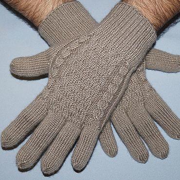 Accessories handmade. Livemaster - original item Men`s patterned gloves. The gift on February 23. Warm gloves.. Handmade.