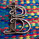 Order Copper wire wrapped pendant  letter B. IVA rainbow art. Livemaster. . Pendants Фото №3