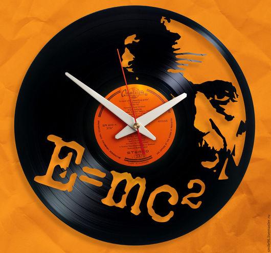 """Часы для дома ручной работы. Ярмарка Мастеров - ручная работа. Купить Часы из пластинки """"Эйнштейн"""". Handmade. Эйнштейн, альберт эйнштейн"""