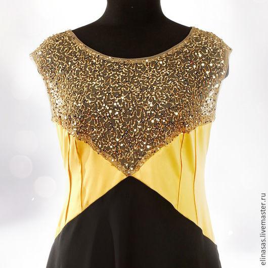 Платья ручной работы. Ярмарка Мастеров - ручная работа. Купить Платье золотое праздничное. Handmade. Платье нарядное, бал