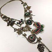 Украшения handmade. Livemaster - original item Garden Lace Butterflies. Necklace.. Handmade.