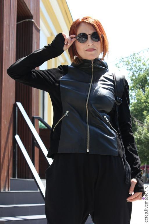 Верхняя одежда ручной работы. Ярмарка Мастеров - ручная работа. Купить Куртка кожа+замш. Handmade. Меховая куртка, куртка женская