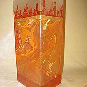 """Для дома и интерьера ручной работы. Ярмарка Мастеров - ручная работа Ваза """" Душа Огня"""". Handmade."""