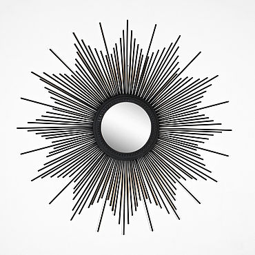 Для дома и интерьера ручной работы. Ярмарка Мастеров - ручная работа Зеркало солнце Delfina Black. Handmade.