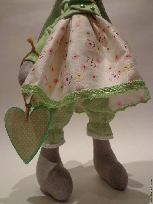Куклы Тильды ручной работы. Ярмарка Мастеров - ручная работа. Купить Зайка Полли.. Handmade. Комбинированный, заяц игрушка, хлопок