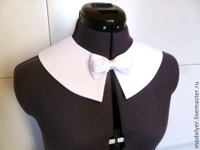 Bortnick detachable white crepe S, Collars, Moscow,  Фото №1