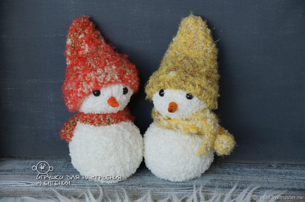 Вязаные плюшевые снеговички, Снеговики, Новосибирск,  Фото №1