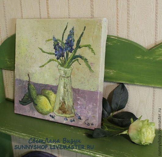 """Картины цветов ручной работы. Ярмарка Мастеров - ручная работа. Купить Картина маслом """"Натюрморт с лимонами"""" для кухни. Handmade."""