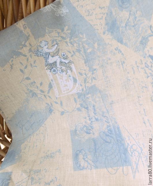 Шитье ручной работы. Ярмарка Мастеров - ручная работа. Купить Лен 15-262 винтаж Дания. Handmade. Ткань для кукол
