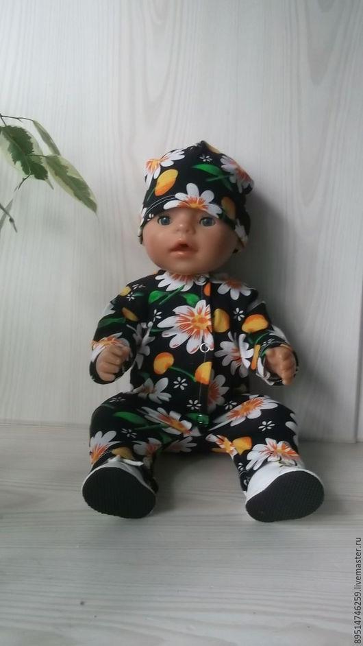 Одежда для кукол ручной работы. Ярмарка Мастеров - ручная работа. Купить Трикотажный слип и шапочка- носок. Handmade. Комбинированный, слип